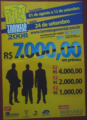 Cartaz do Torneio Gerencial 2008